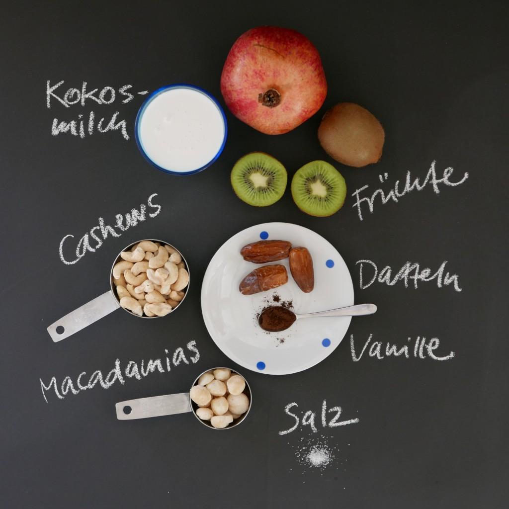 Zutaten Macadamia-Kokos-Creme