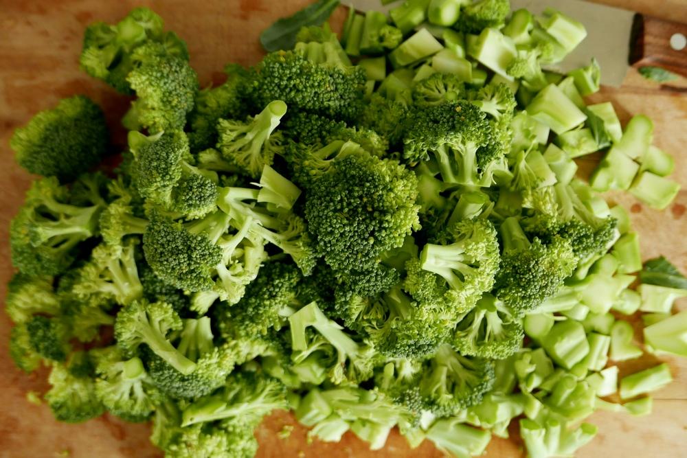 Broccoli geschnitten