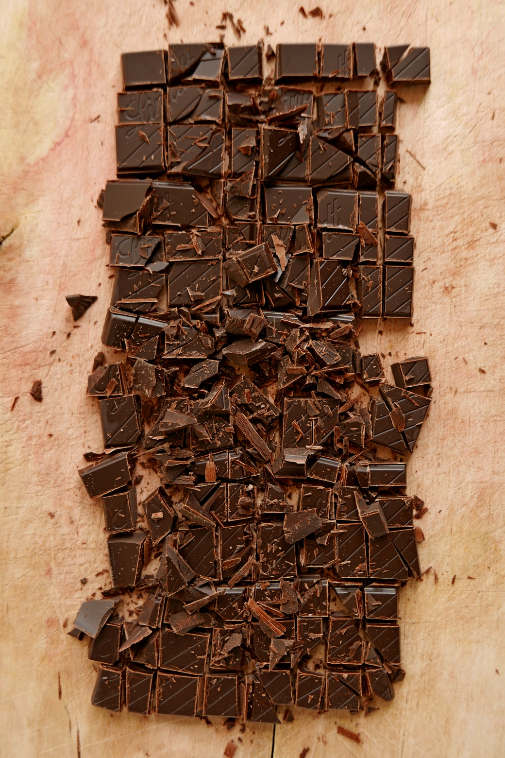 Schokolade geschnitten